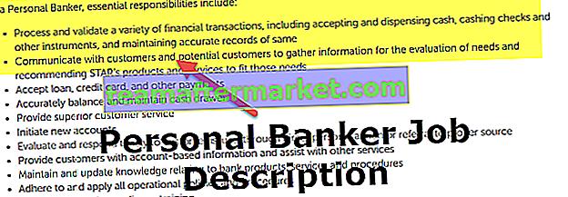 Personal Banker Jobbeschreibung