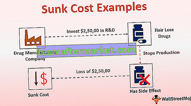 Exemples de coûts irrécupérables