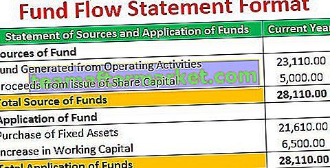 Format du relevé des flux de fonds