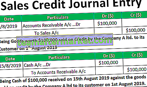 Eintrag im Sales Credit Journal