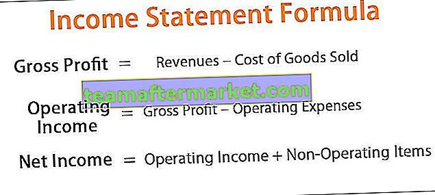 Fórmula de declaração de renda