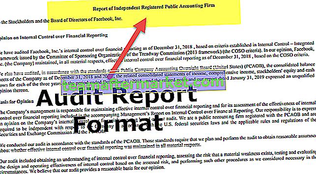 Format Laporan Audit