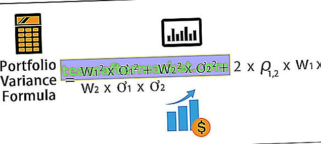 Formule de variance du portefeuille