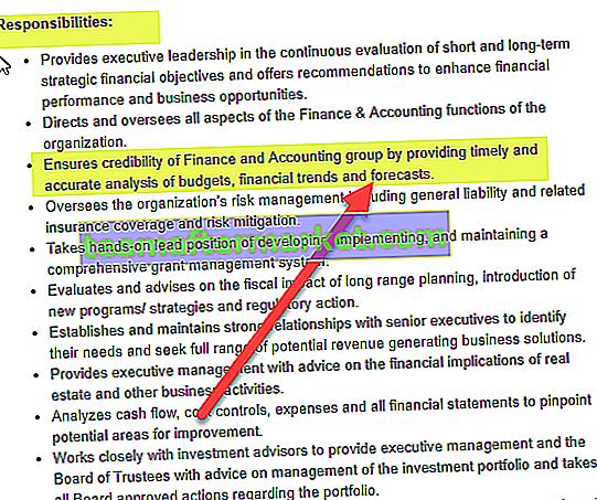CFO Jobbeschreibung