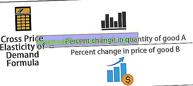 Formula di elasticità della domanda incrociata rispetto al prezzo