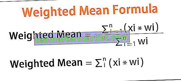 Gewichtete mittlere Formel
