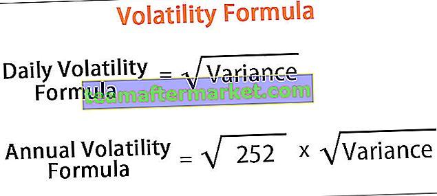 Volatilitätsformel
