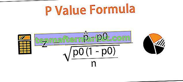 Fórmula do valor P