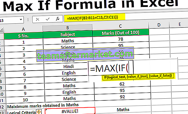 Max IF in Excel