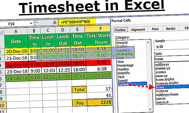 Arbeitszeittabellenrechner in Excel