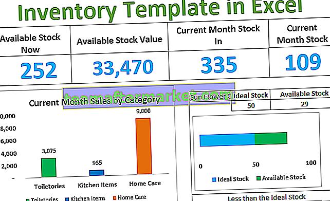 Inventarvorlage in Excel
