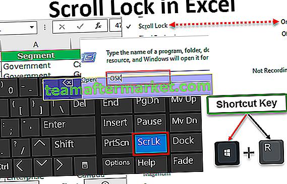 Bildlaufsperre in Excel
