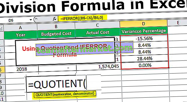 In Excel-Formel teilen