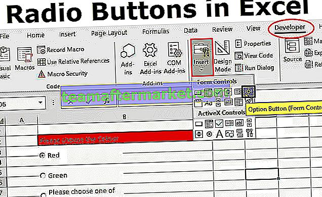 Optionsfeld in Excel (Optionsschaltfläche)