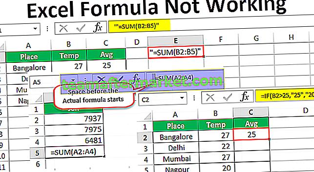 Excel-Formel funktioniert nicht