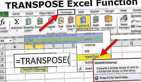 Fungsi TRANSPOSE Excel