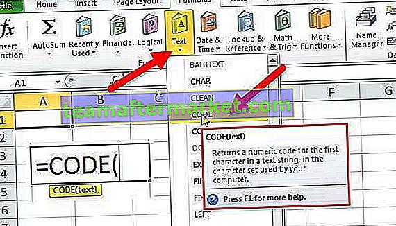 CODE Excel-Funktion