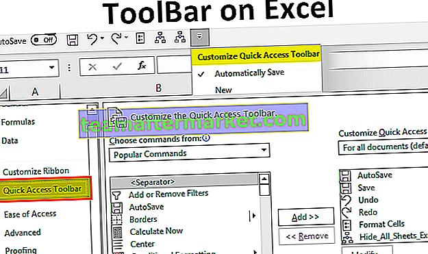 Symbolleiste in Excel