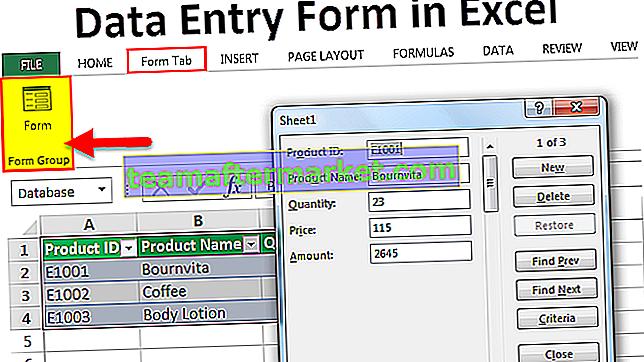 Excel-Formulare