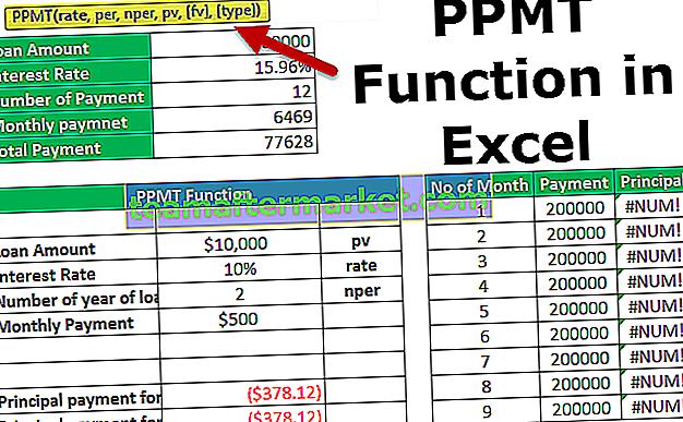 PPMT-Funktion in Excel