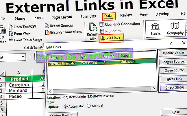 Tautan Eksternal di Excel