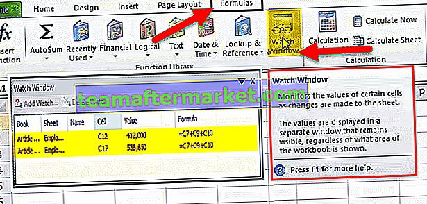 Fenster in Excel beobachten