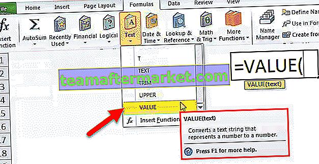 VALUE-Funktion in Excel