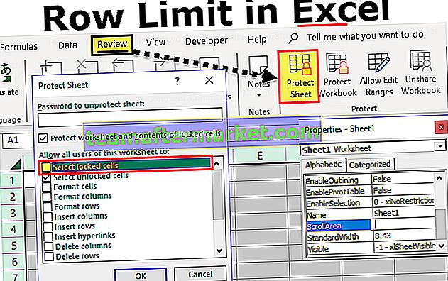 Zeilenbegrenzung in Excel