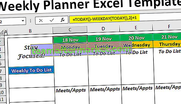 Excel-Wochenplaner-Vorlage