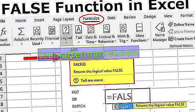 Falso in Excel