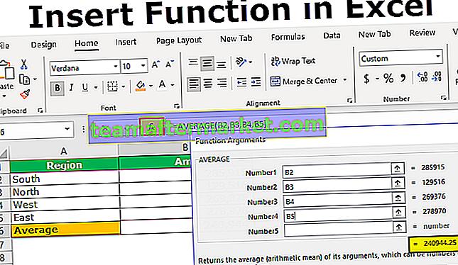 Insérer une fonction dans Excel