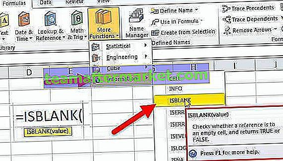 ISBLANK in Excel
