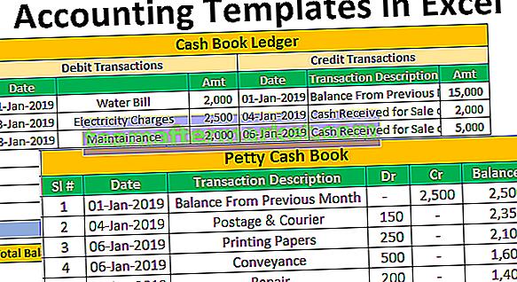 Buchhaltungsvorlagen in Excel