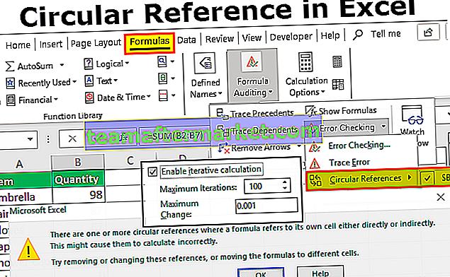 Referensi Melingkar di Excel