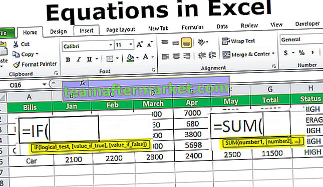 Equazioni in Excel