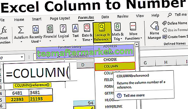 Excel-Spalte zu Nummer
