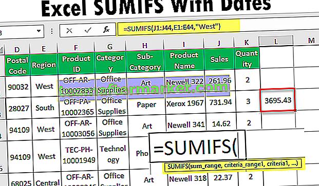 SUMIFS com datas