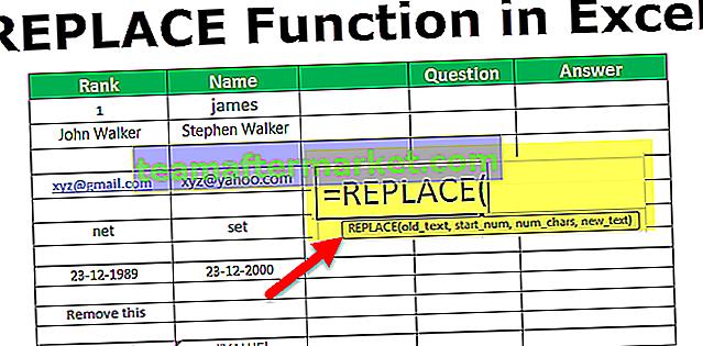 Excel REPLACE-functie