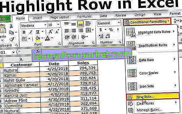 Destaque todas as outras linhas no Excel