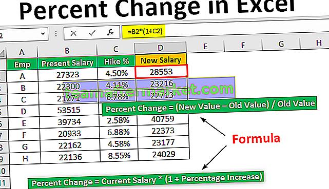 Variazione percentuale in Excel
