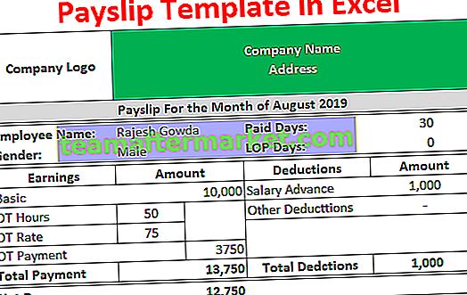 Template Payslip di Excel