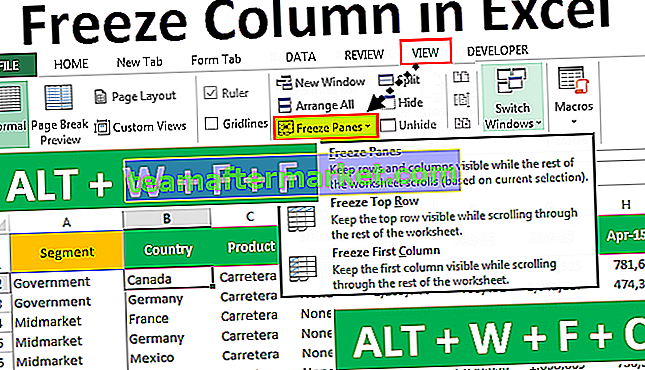 Bekukan Kolom di Excel