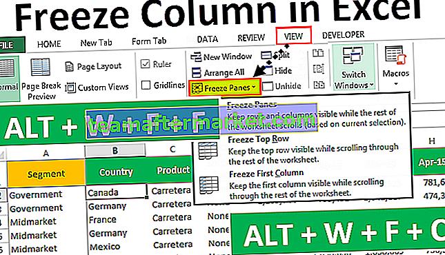 Zet kolommen vast in Excel
