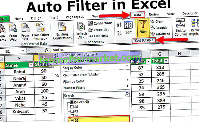 Filtro automático no Excel