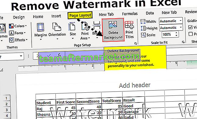 Verwijder watermerk in Excel