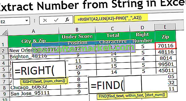 Wyodrębnij liczbę z ciągu Excel