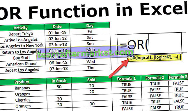 Fonction Excel OU
