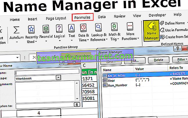 Namensmanager in Excel