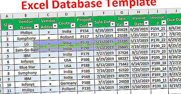 Excel-Datenbankvorlage