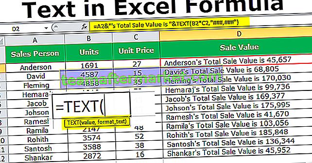 Wie füge ich Text in Excel Formula hinzu?